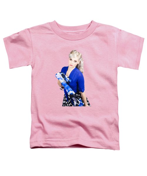 The Classic Pin-up Image. Girl In Retro Style Toddler T-Shirt