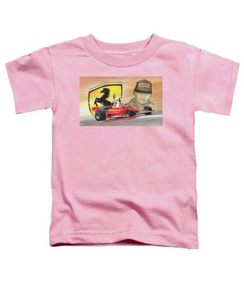 The Ferrari Legends - Niki Lauda Toddler T-Shirt