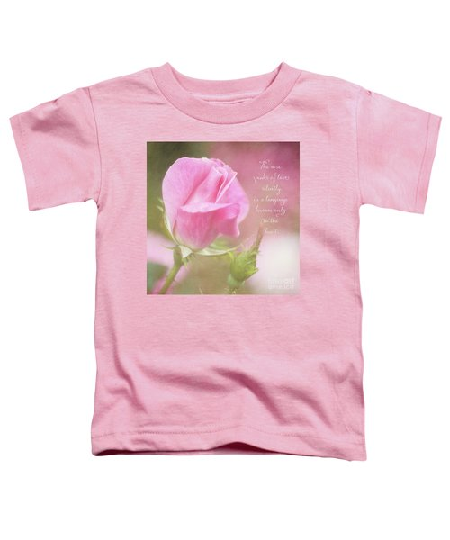 The Rose Speaks Of Love Photograph Toddler T-Shirt