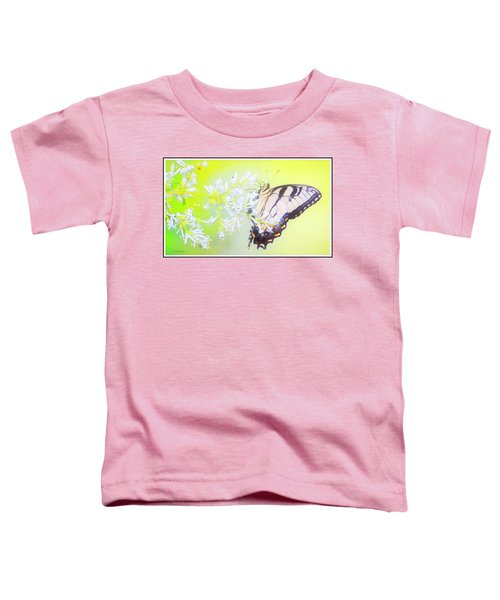 Tiger Swallowtail Butterfly On Privet Flowers Toddler T-Shirt