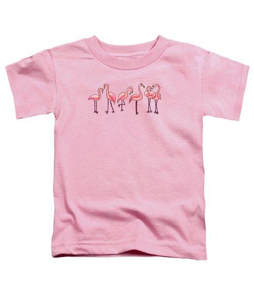 Tropical Flamingos Toddler T-Shirt