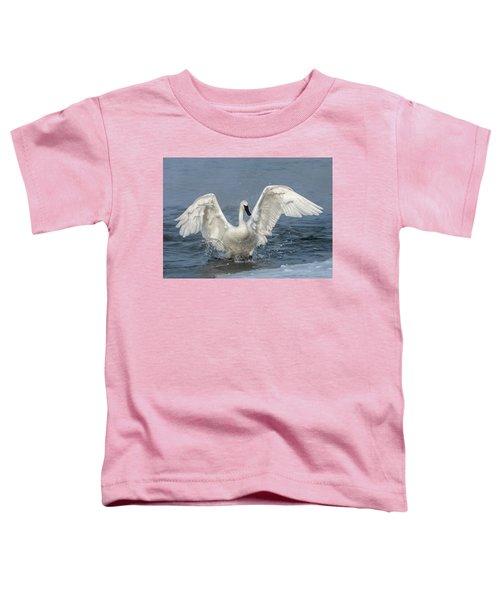 Trumpeter Swan Splash Toddler T-Shirt