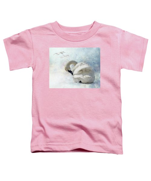 Trumpeter Textures #2 - Swan Preening Toddler T-Shirt