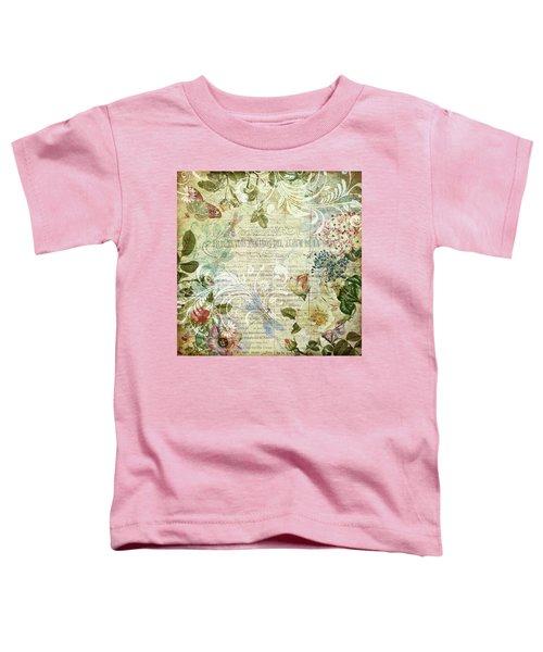 Vintage Botanical Illustration Collage Toddler T-Shirt