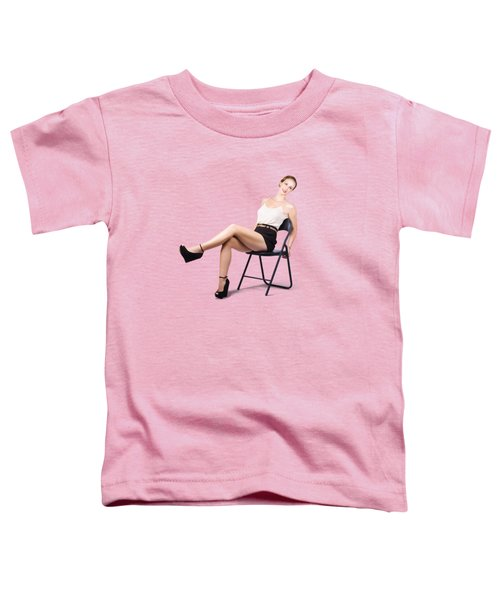 Vintage Woman Relaxing On Chair Toddler T-Shirt