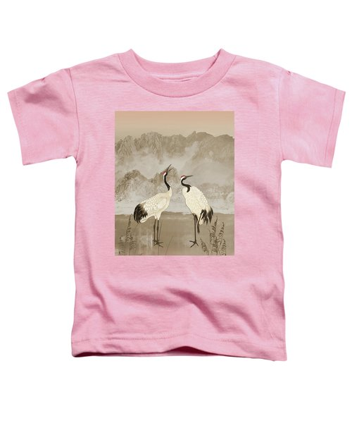 Wintering Manchurian Cranes Toddler T-Shirt