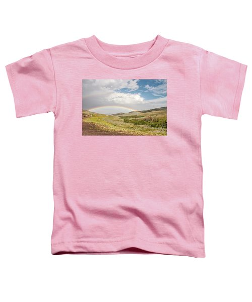 Wyoming Double Rainbow Toddler T-Shirt