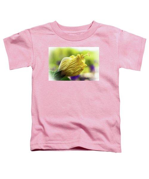 Yellow Mature Hibiscus  Toddler T-Shirt