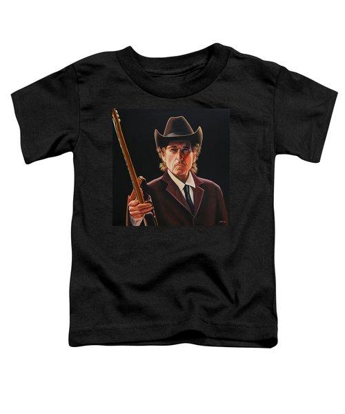 Bob Dylan 2 Toddler T-Shirt by Paul Meijering