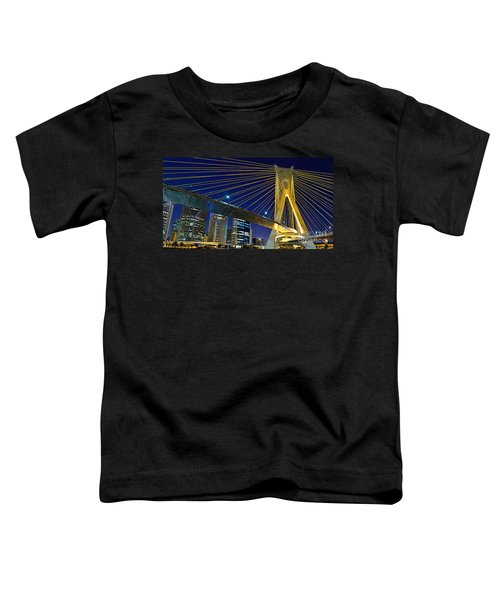 Sao Paulo's Iconic Cable-stayed Bridge  Toddler T-Shirt
