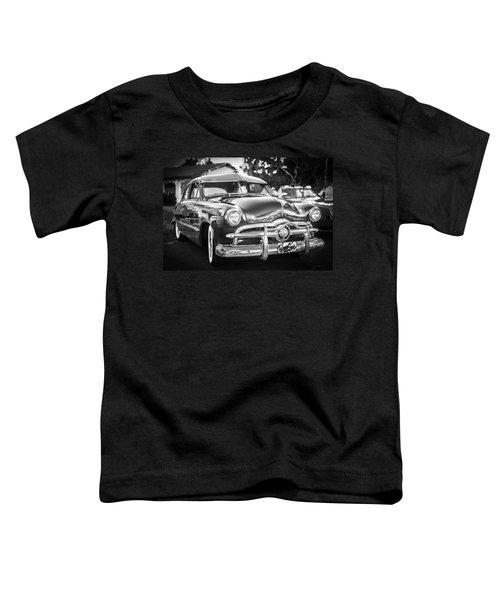1949 Ford 2 Door Custom Bw Toddler T-Shirt