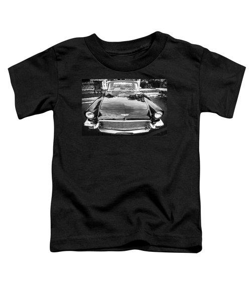 1957 Ford Thunderbird Convertible Bw  Toddler T-Shirt