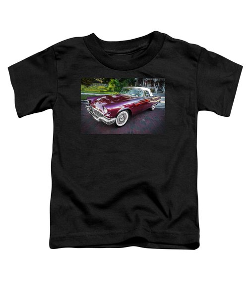 1957 Ford Thunderbird Convertible Painted    Toddler T-Shirt