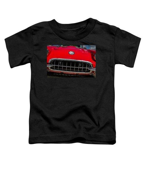 1958 Chevrolet Corvette Grille Toddler T-Shirt