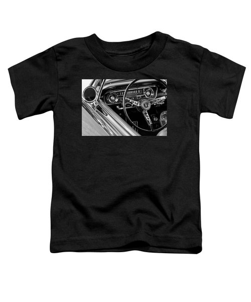 1965 Shelby Prototype Ford Mustang Steering Wheel Toddler T-Shirt