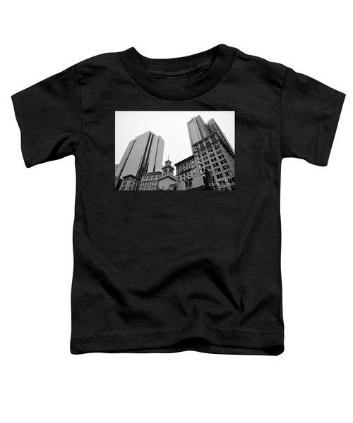 Boston Cityscape Black And White Toddler T-Shirt