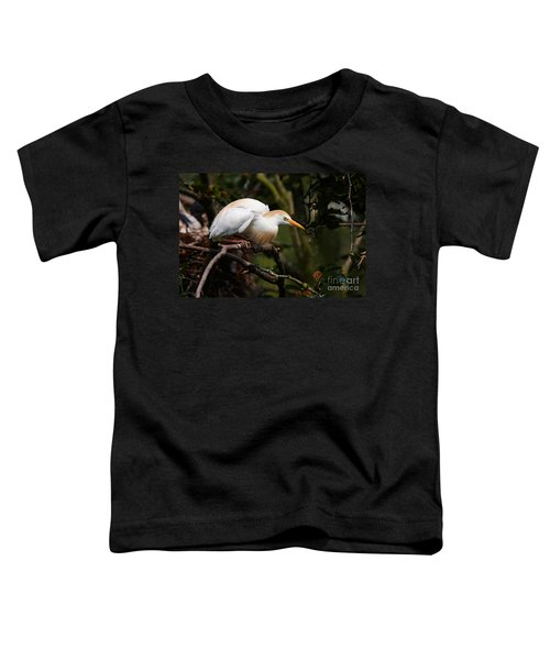 Cattle Egret In A Tree Toddler T-Shirt