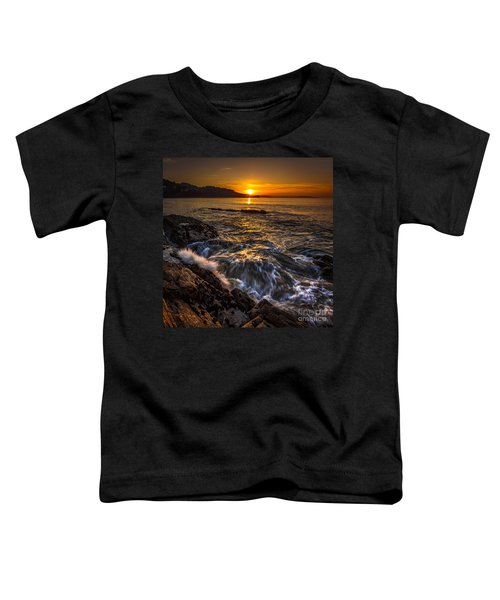 Chamoso Point In Ares Estuary Galicia Spain Toddler T-Shirt