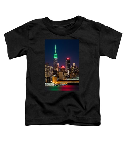 Empire State Building On Saint Patrick's Day Toddler T-Shirt