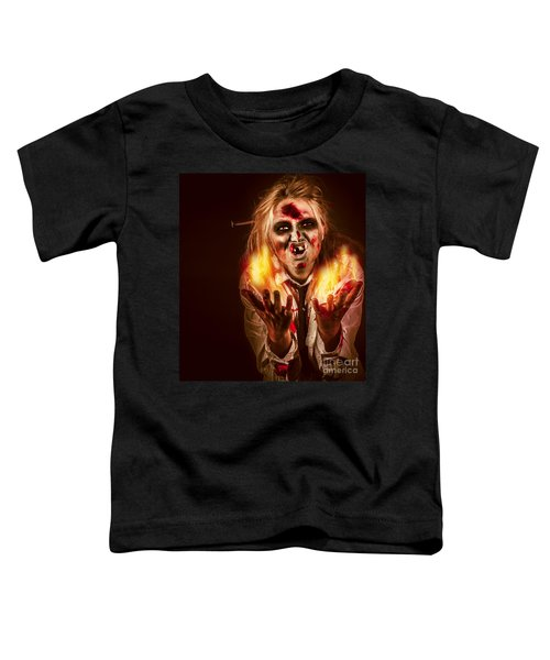 Evil Witch Woman Casting A Spooky Spell Toddler T-Shirt