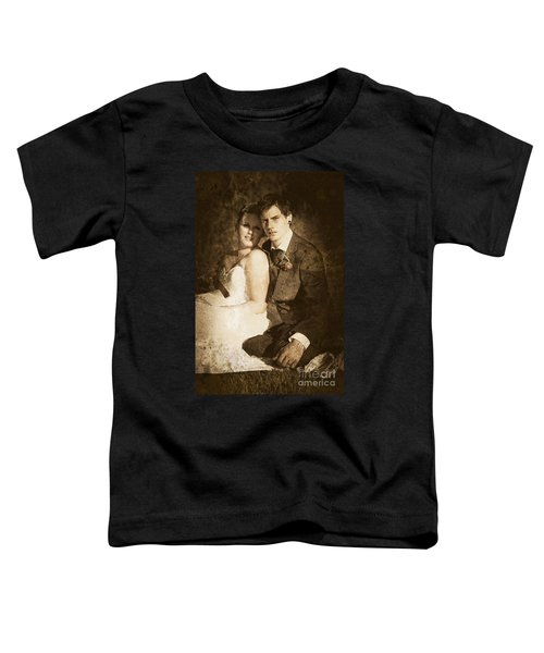 Faded Vintage Wedding Photograph Toddler T-Shirt