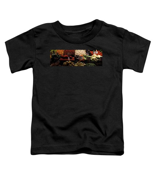 Fruits And Vegetables At A Market Toddler T-Shirt