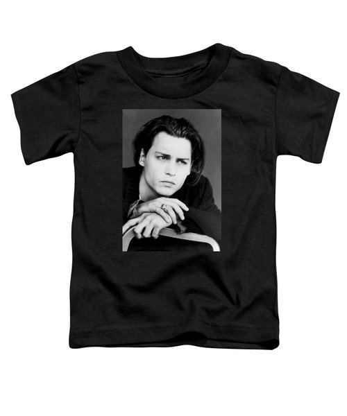 Johnny Depp Toddler T-Shirt by Karon Melillo DeVega