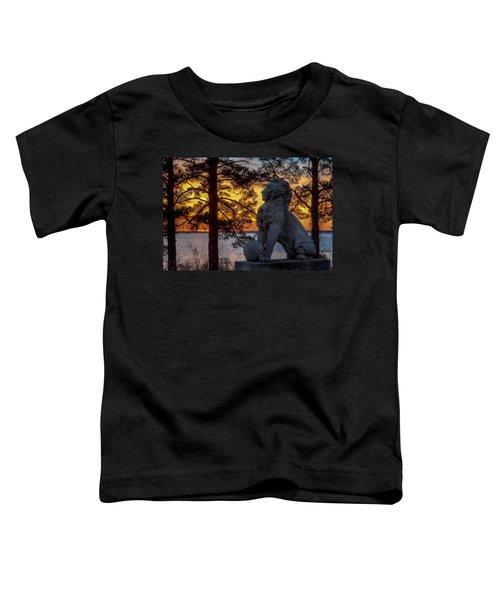 Lion At Sunset Toddler T-Shirt