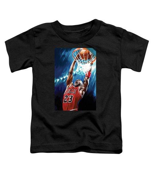 Michael Jordan Artwork Toddler T-Shirt