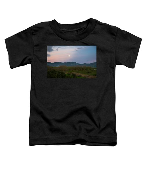 Moon Over The Hills Of Povoacao Toddler T-Shirt