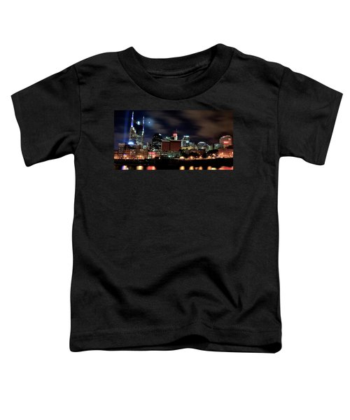 Nashville Panoramic View Toddler T-Shirt by Frozen in Time Fine Art Photography