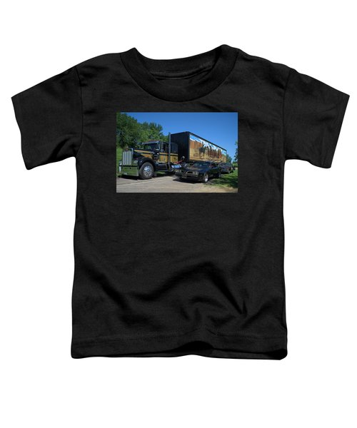 Smokey And The Bandit Tribute 1973 Kenworth Semi Truck And The Bandit Toddler T-Shirt
