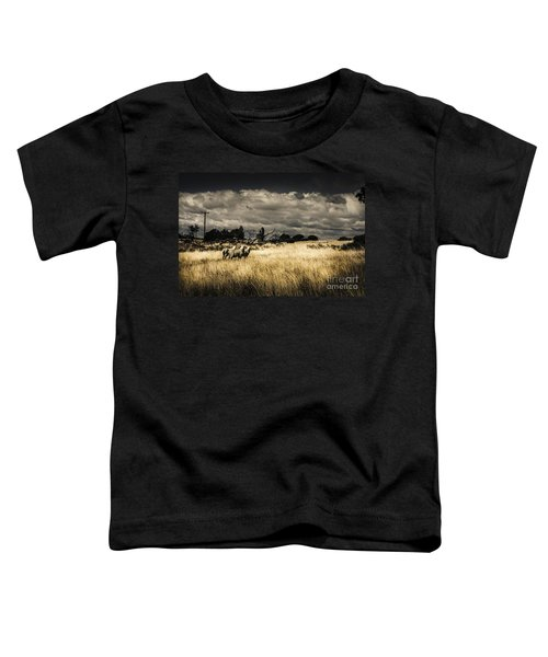 Tasmania Landscape Of An Outback Cattle Station Toddler T-Shirt