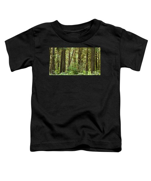 Trees In A Forest, Quinault Rainforest Toddler T-Shirt
