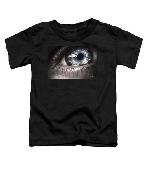 Visionary Blue Eye Watching Electric Skies Toddler T-Shirt
