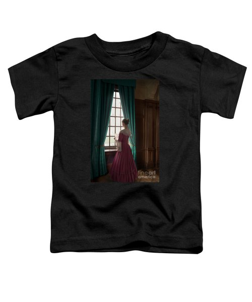 Woman In Georgian Period Dress Reading A Letter By The Window Toddler T-Shirt