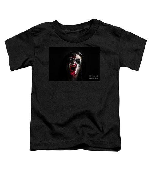 Zombie Girl Screaming Out In The Darkness Toddler T-Shirt