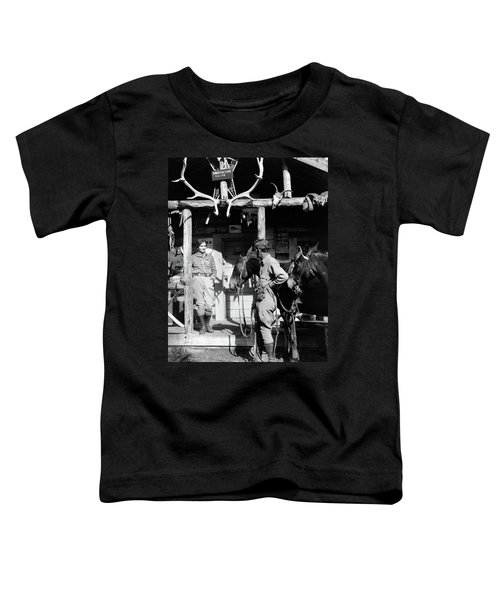 1920s 1930s Couple And Horses In Front Toddler T-Shirt