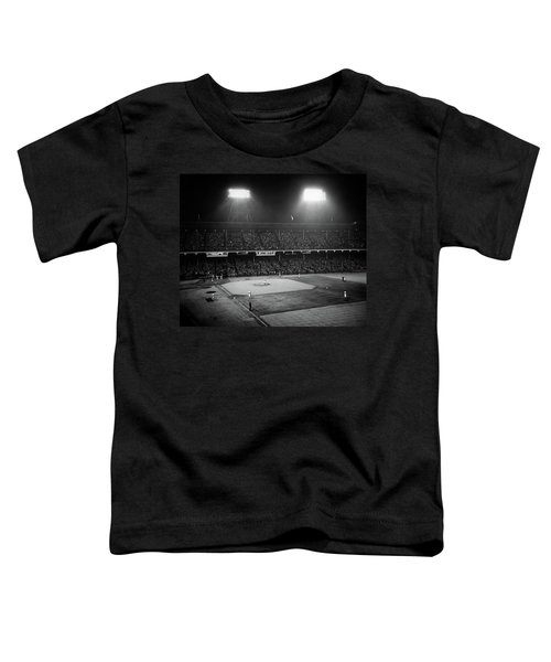 1940s 1947 Baseball Night Game Toddler T-Shirt