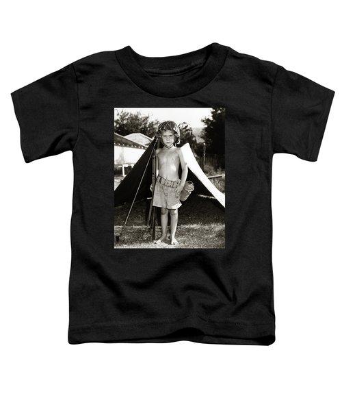 1950s Boy Playing Soldier Standing Toddler T-Shirt