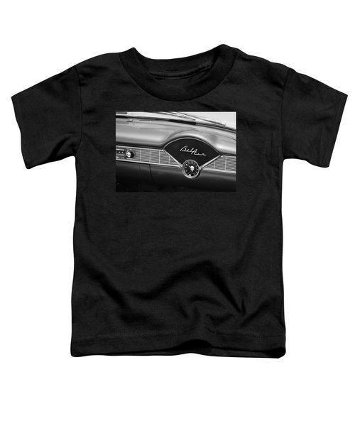 1956 Chevrolet Bel Air Convertible Painted Bw Toddler T-Shirt