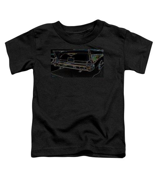 1957 Chevrolet Rear View Art Black_varooom Tag Toddler T-Shirt