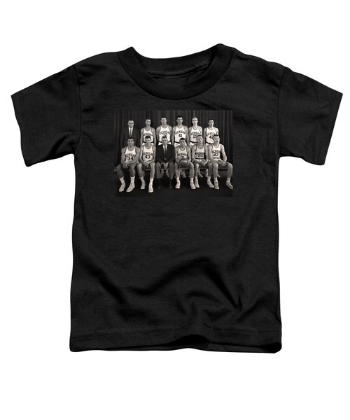 1960 University Of Michigan Basketball Team Photo Toddler T-Shirt by Mountain Dreams