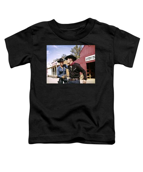 1960s Cowboy Sheriff With Badge Draws Toddler T-Shirt