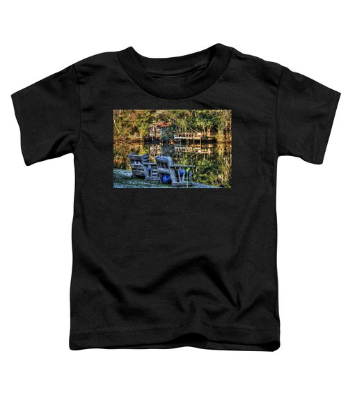 2 Chairs On The Magnolia River Toddler T-Shirt