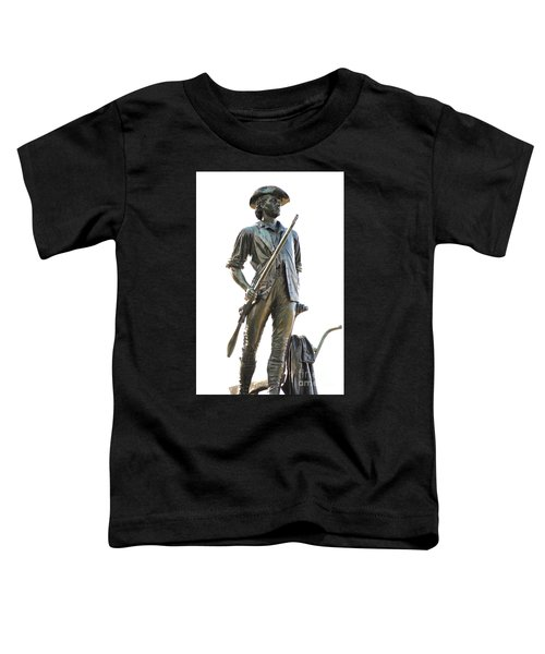 Minute Man Statue Concord Massachusetts Toddler T-Shirt
