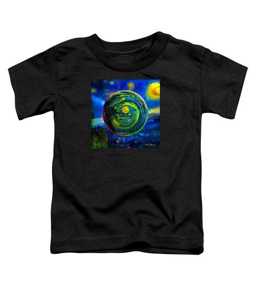 Orbiting A Starry Night  Toddler T-Shirt