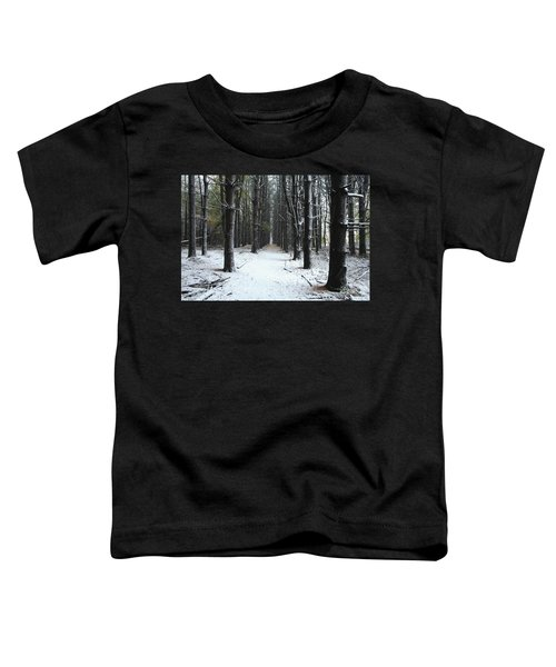 Pines In Snow Toddler T-Shirt