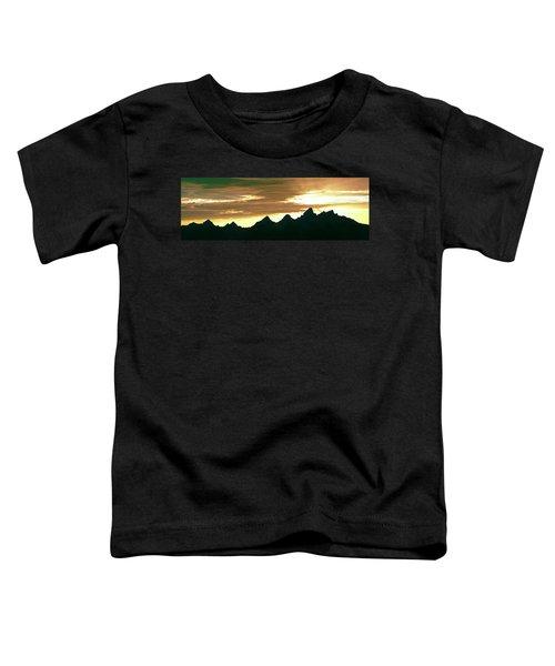 Silhouette Of The Teton Range Toddler T-Shirt