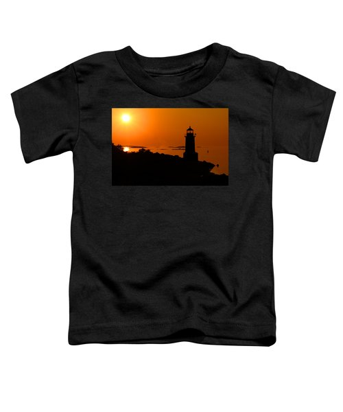 Winter Island Lighthouse Sunrise Toddler T-Shirt